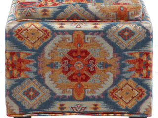 Madison Park Allison Red Square Storage Ottoman with 2 Pillows Retail 136 49