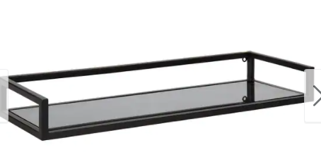 Kate and laurel Blex Metal and Glass Wall Shelf Retail 102 99