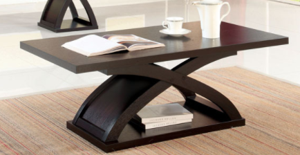 Furniture of America Coffee Table   Red Cocoa CM 64641C 3A