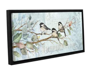 ArtWall Anita Phillips  Chickadee Inspiration  Gallery wrapped Canvas