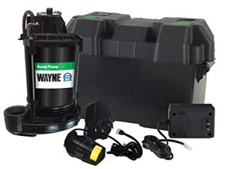 Wayne Sump Backup Pump  12 volt 2700 Gallons Per Hour Coatee Steel Cast Iorn Bottom