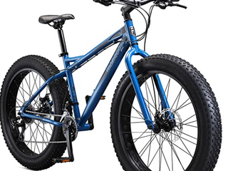 Mongoose   Juneau Fat Tire Bike   Blue  loose Handlebars Missing Pedal