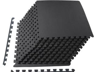 1 2 Inch Thick   48 SQ FT Black Eva Mat 12 Pcs