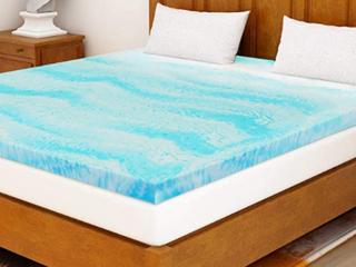 2 Inch Milemont Mattress Foam Topper Blue