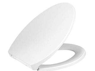Tangkula Toliet Seat With Cover  White