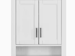 Scott living   Wrightsville   Wall Cabinet   Vanity without Top   White  Damaged Vanity Bottom
