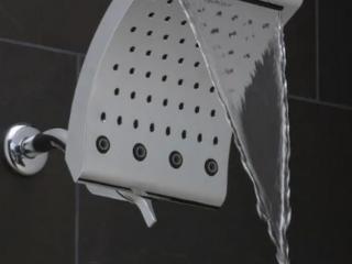 Oxygenics   Curve Waterfall Spray   Shower Head   Chrome