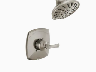 Delta   Sandover Tub and Shower Rough and Trim   Brushed Nickel Finish