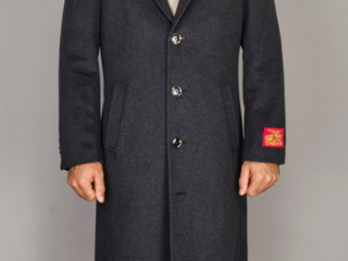 Men s Wool and Cashmere Topcoat 48l  Retail 139 99