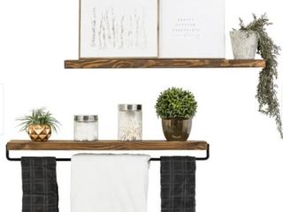 Handmade Del Hutson Designs True Floating Shelf and Towel Rack Retail 78 48