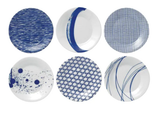 Pacific Mixed Patterns 6 piece Tapas Plates