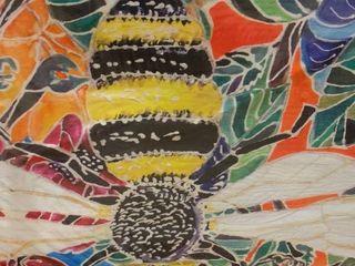 lauren Moss Oh Honey Bee Canvas Art   4 x 3
