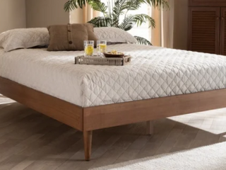 Carson Carrington Banga Mid century Modern Wood Bed Frame  Retail 286 49