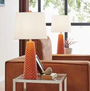 Muriel Table lamp Set   Orange