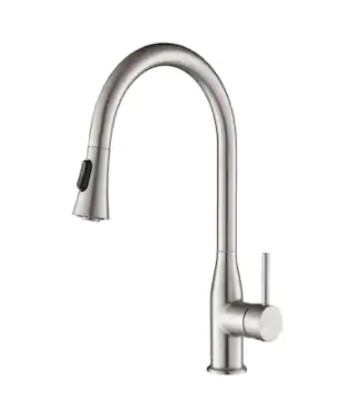 High Arc Pull Out Single level lead Free Pull Down Kitchen Mixer