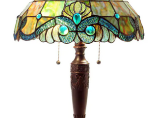 Tiffany Style Pearl Vintage Table lamp  Retail 111 46