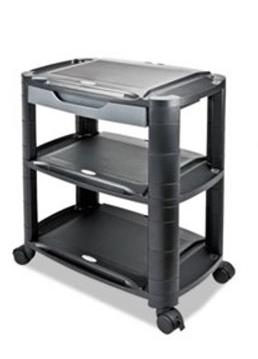 Alrea 3 In 1 Black Gray Storage Cart