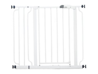 Regalo  Easy Step  Metal Walk Through Safety Gate  White  Model  1160 DS