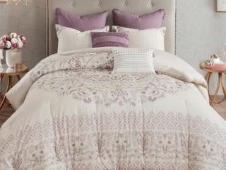 Madison Park Evelyn 8 Piece Cotton Printed Reversible Comforter Set  Retail 139 97