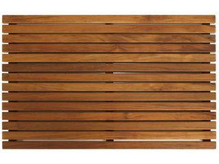 Bare Decor Zen large Oiled Solid Teak Shower Mat  Retail 94 49