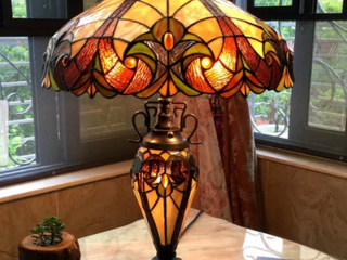 Tiffany Style Victorian Design Double lamp