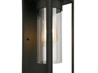 Eglo Walker Hill Matte Black Outdoor Wall light with Clear Glass  Retail 79 20