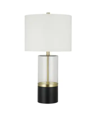 Glass Table lamp Silver C10496T Bl