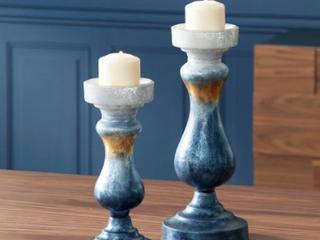 Modern Rounded Tempered Glass Candleholder