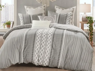 The Curated Nomad Clementina Cotton Printed Chenille Comforter Set  Retail 124 49