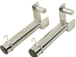 FITNESS REAlITY Extended 9  Olympic Weight Plate Holder   Chrome
