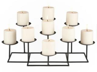 Black   Copper Grove Bugleweed 9 candle Candelabra