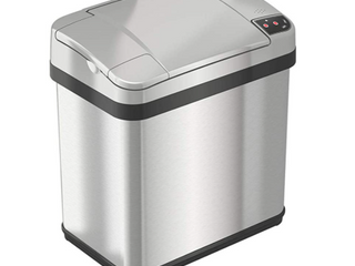 ITouchless 2 5 Gallon Touchless Trash Can With Deodorizer And Fragrance  Stainless Steel