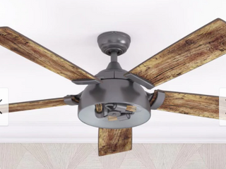 52  Prominence Home Octavia Indoor Industrial Modern Ceiling Fan with Remote  Iron  Retail 205 99