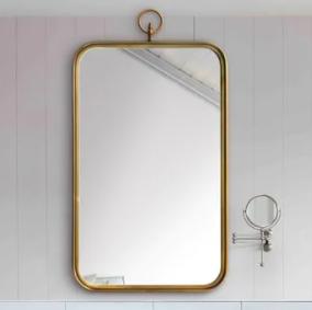 Carson Carrington Ulfserud Brass Mirror  Retail 313 99
