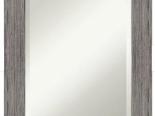 Pinstripe Plank Grey Bathroom Vanity Wall Mirror  Retail 238 99