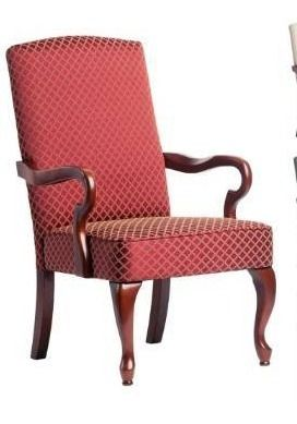 Copper Grove Casalis Cherry Finish Gooseneck Accent Chair