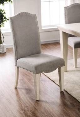 2 Furniture of America Sope Modern White Dining Chairs  Set of 2  Retail 282 49