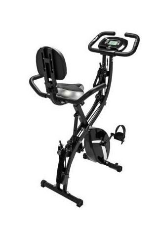 3 in 1 Indoor Exercise Folding Magnetic Upright Bike Cardio Equipment   Black