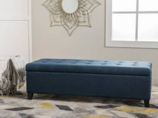 Mission Tufted Fabric Storage Ottoman Bench by Christopher Knight Home  Retail 187 99