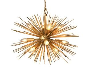 Y Decor 12 light Chandelier in Gold finish  Retail 227 49