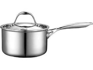 Cooks Standard lid 1 5 Quart Multi Ply Clad Stainless Steel Saucepan  1 1 2 Quart  Silver