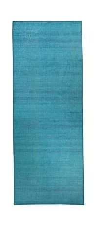 RUGGABlE Washable Stain Resistant Runner Rug Solid Textured Ocean Blue   2 6  x 7  Retail 106 99