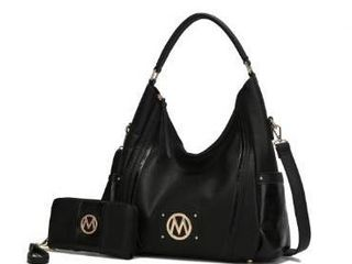 MKF Collection Eden Hobo Bag with Wallet by Mia K    Black