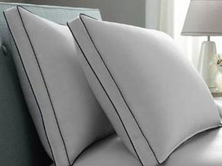 Pacific Coast Double DOWNAROUND Medium 2 Pack Pillow   White Blue Cord  Retail 101 99