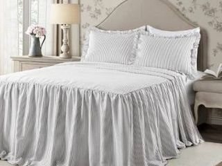 The Gray Barn lazy Acres Ticking Stripe Bedspread Set