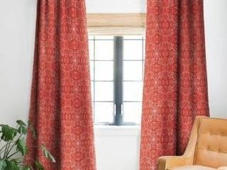 Deny Designs Forest Maze Red Blackout Curtain Panel