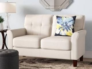 McNaboe linen 54 53  Wide Flared Arm loveseat