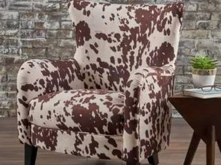 Arabella Cow Print Velvet Club Chair by Christopher Knight Home