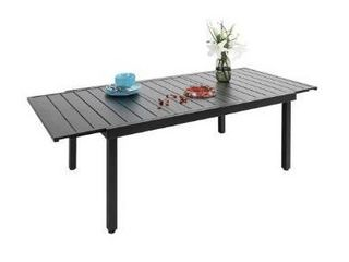 Phi Villa Outdoor Steel Stretch Dining Table