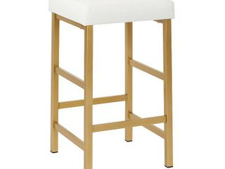 Porch   Den Moscato Gold 26 inch Backless Stool  Retail 106 99